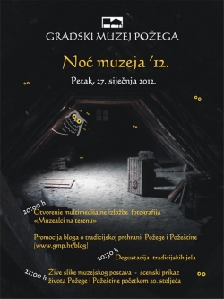 Program za Noć muzeja 2012.